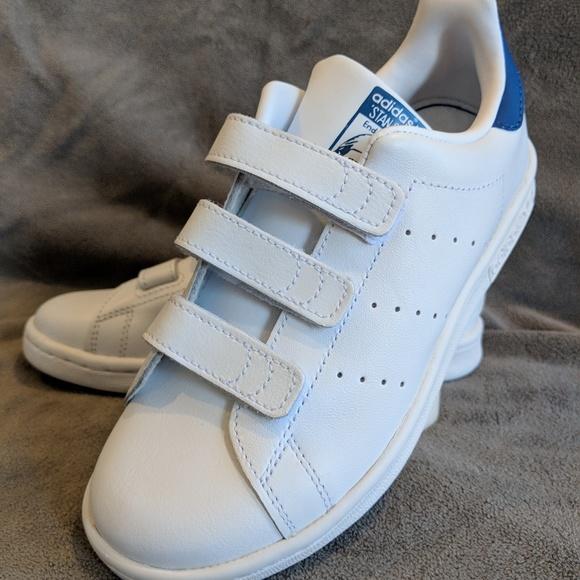 Kids Adidas Stan Smith Cf Blue Sz